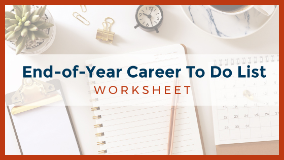 End-of-Year Career To Do List