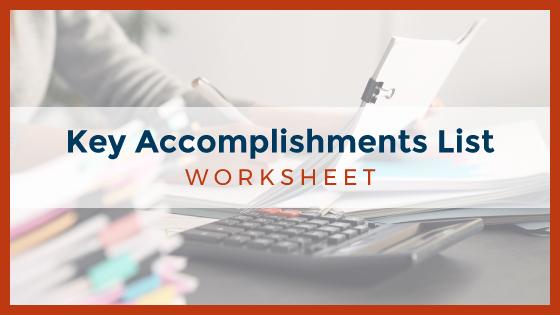 Key Accomplishments List