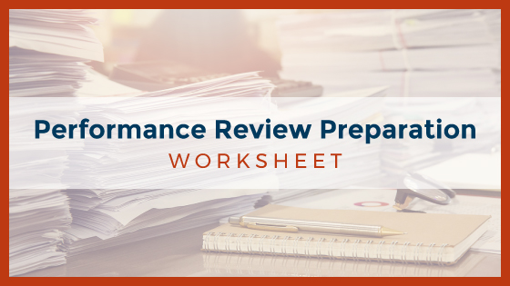 Performance Review Preparation Worksheet