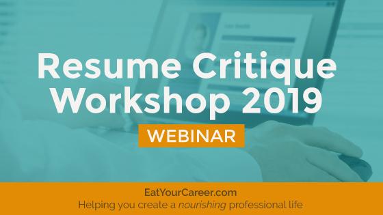 Resume Critique Workshop 2019