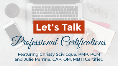 Let's Talk: Professional Certifications
